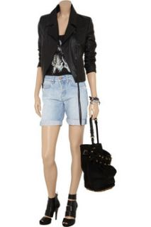 MiH Jeans London Boy Slouch mid rise denim shorts   85% Off