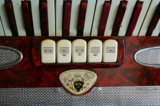 Vintage Lindo Italy Accordion Accordian Musette 3 5 Reed Sets 80