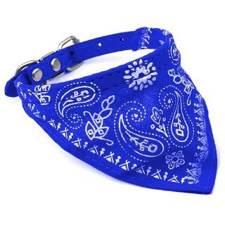 Blue Cute Personalized Pet Dog Bandana Collar for Small