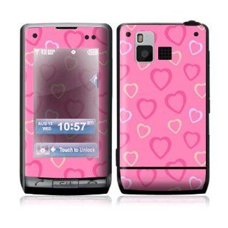 Pink Hearts Decorative Skin Cover Decal Sticker for LG