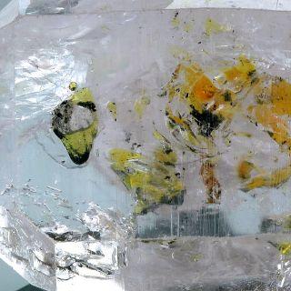84 28ct Large Golden Enhydro Herkimer Diamond Quartz Crystal with Host