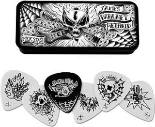 DUNLOP® JAMES HETFIELD GUITAR PICK TIN (6 PACK) METALLICA *NEW*