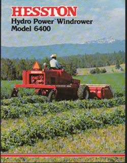 Hesston 6400 Hydro Power Windrower Brochure Leaflet