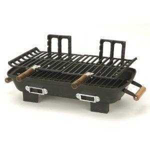 Allen Cast Iron Hibachi Charcoal Grill Portable Outdoor RV Camp NEW