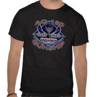 USAF AC 130 Gunship Skull Tee Shirt