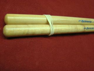 Vintage Ludwig 3A  Wood Tip Hickory Drum Sticks 1970s