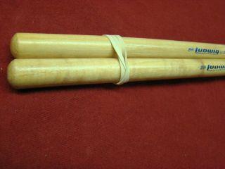 Vintage Ludwig 3A Wood Tip Hickory Drum Sticks 1970s