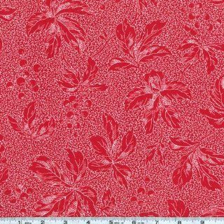45 Wide Through My Window Berries Red/White Fabric By