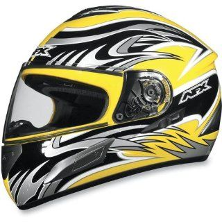 AFX FX 100 Full Face Motorcycle Helmet With Internal Sun Shield Yellow