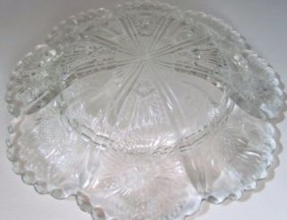 Antique Higbee Thistle EAPG Covered Butter Dish 7 1/2