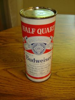 Beautiful Budweiser Half Quart St Louis MO 16 oz Empty Flat Top Beer