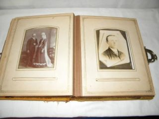 ANTIQUE HIGGINSVILLE, MO PHOTO ALBUM LATE 1800s CABINET PHOTOS