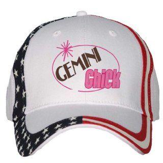GEMINI Chick USA Flag Hat / Baseball Cap Clothing