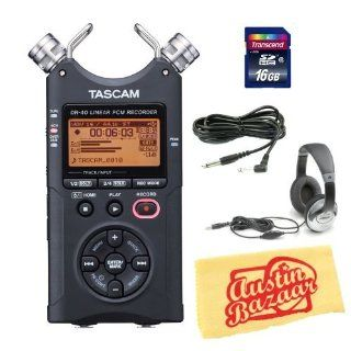 Tascam DR 40 Handheld 4 Track Recorder Bundle with 16GB SD