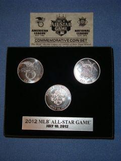 All Star Game HIGHLAND MINT Boxed 3 Coin Set Kansas City Royals Ltd Ed