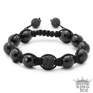 All Black Everything Swarovski Crystal Black Bead Jabari Bracelet
