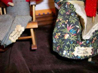 Miniature Maw Paw Snazzy Hillbilly Dolls Wooden Rockers Old Man Woman