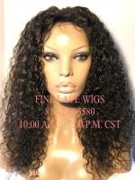 Full Lace Curly Indian Remy Wig Human Hair