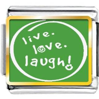 Pugster Live Love Laugh In Circle Photo Word & Phases