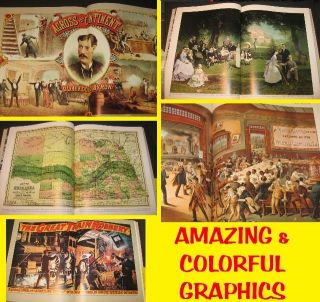 Vtg RAILROAD Book TRAINS HISTORY Scrapbook Decoupage Art Graphics Old