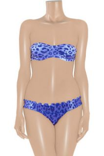Vix Lolita leopard print bandeau bikini top   85% Off