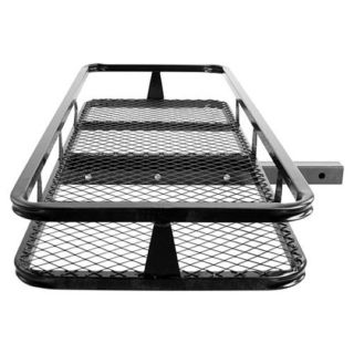 Hitch Mounted Cargo Carrier Luggage Basket Rack Truck RV SUV Car
