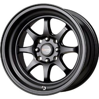 Drag DR 54 Flat Black Wheel with Painted Finish (15x8.25/4x100mm