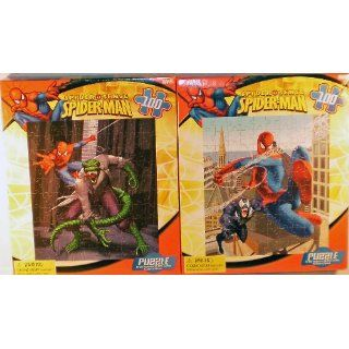 2 Pack Marvel Comics Spiderman 100 Piece Puzzles