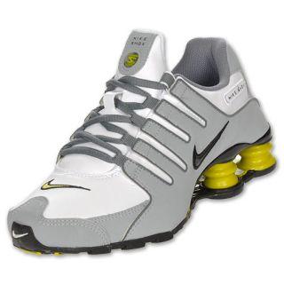 Boys Gradeschool Nike Shox NZ White/Grey/Yellow
