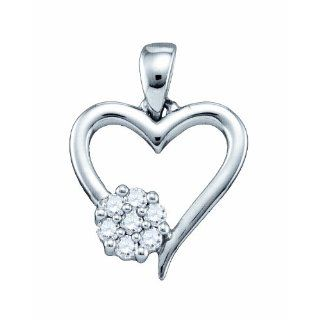 10CT Valentine Day Special Diamond Heart Pendant Jewelry