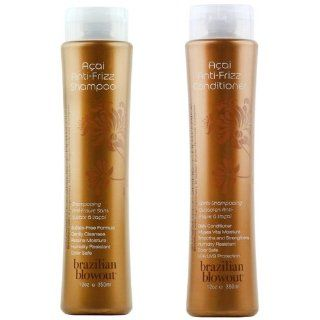 Brazilian Blowout Anti Frizz Shampoo & Conditioner 12