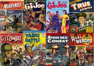 Golden Age DVD WORLD WAR HEROES COMICS #2 GI Joe Fightin Marines True