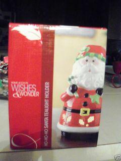 Santa Tealight Holder Christmas Candle Holidays Light
