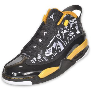 Jordan Mens Retro Dub Zero Basketball Shoe Black