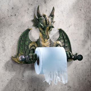 Medieval Dragon Bath Tissue Holder Gothic Toilet Paper Holder Bathroom