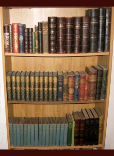 Antique Book Collection 62 Victorian Fine Bindings Leather Volume Set