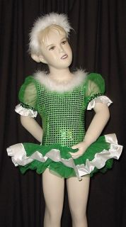 25 00 Sale Holly Green Ballet Tutu Christmas Dance Costume Child 2