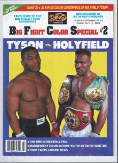 Mike Tyson vs. Evander Holyfield The Ring Big Fight Color Special COMB