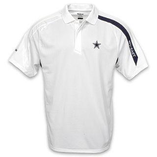 Reebok Mens Dallas Cowboys 2009 Contact Polo White