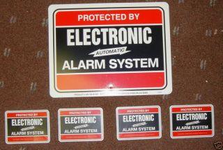 HOME SECURITY BURGLAR ALARM SECURITY WARNING SIGN & 4 FREE WINDOW DOOR
