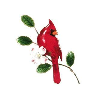 Bovano Enamel Wall Art Home Decor Red Cardinal Bird NEW