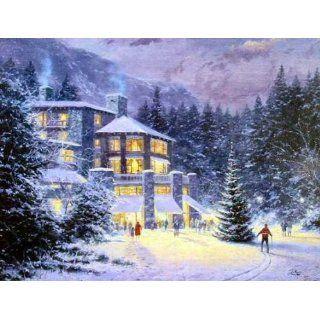 Thomas Kinkade   Christmas At The Ahwahnee SN Canvas Home