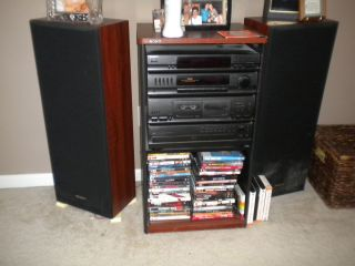 Sony Home Stereo System w Cabinet and Speakers