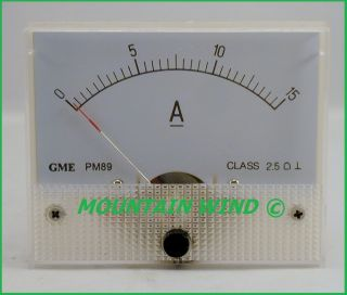 DC 15 Amp Meter Analog for Wind Turbine Generator Solar