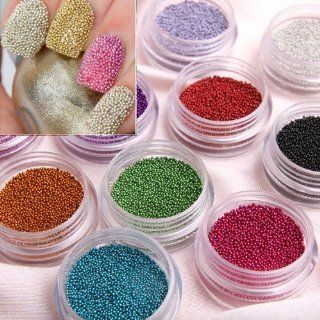 350buy Fashion Caviar Nails Art New 12 Colors plastic
