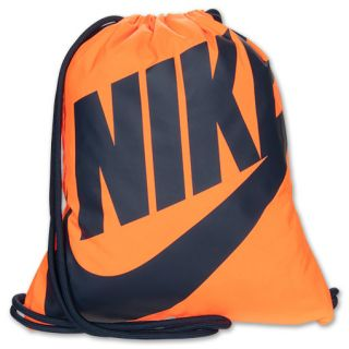 ... Nike Heritage Gymsack Lightweight Bag Orange/Navy ...