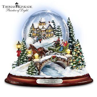 Thomas Kinkade Jingle Bells Illuminated Musical Christmas