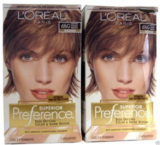 Loreal Superior Preference 6 1/2G Lightest Golden Brown, Warmer Hair