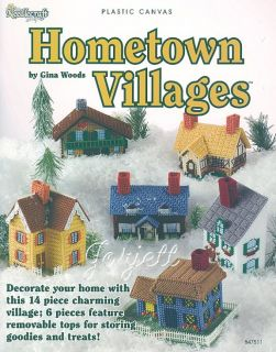 Hometown Villages House Cottage Plastic Canvas Patterns