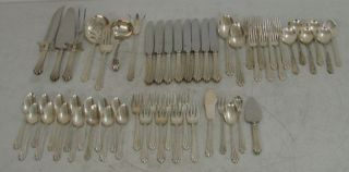 Stieff Homewood 55pcs Sterling Silver Flatware Lot 88oz 60 5oz of